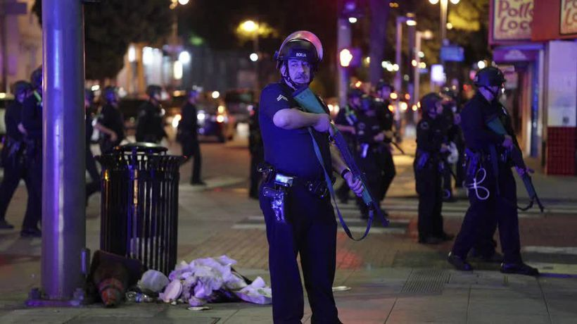 U.S. protesters, angry at Floyd's death, defy curfew but violence subsides