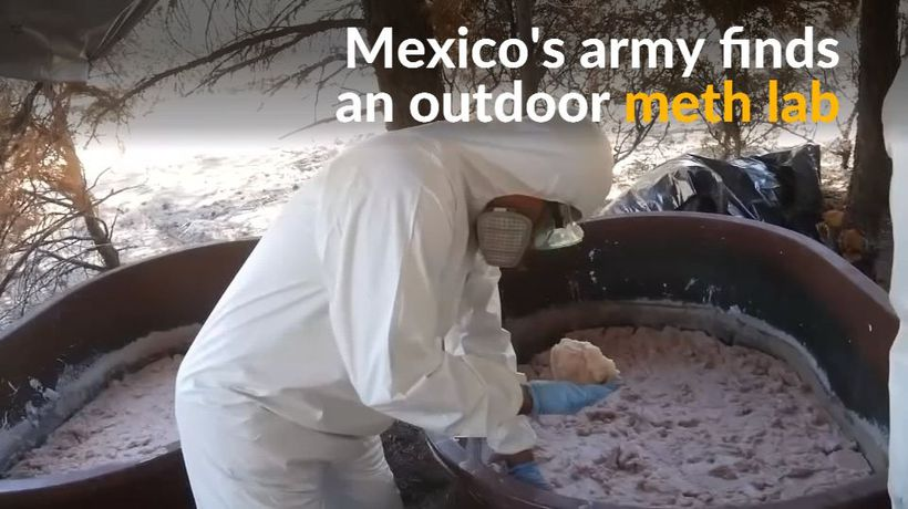 Mexico's army busts drug lab near the U.S.-Mexican border