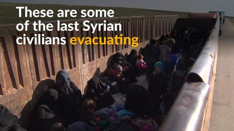 Civilians evacuated from last Islamic State pocket in Syria