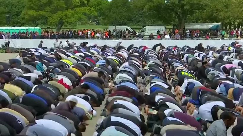 Thousands attend Muslim prayers for shooting victims in New Zealand