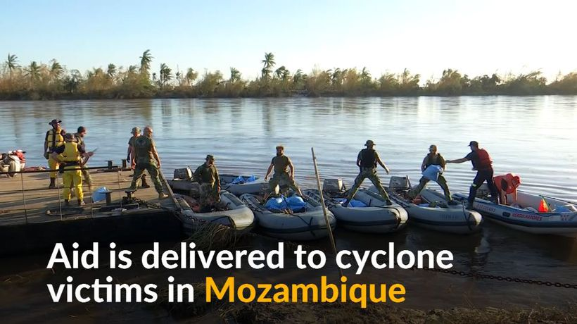 Scores rescued and aid delivered to Mozambique cyclone survivors