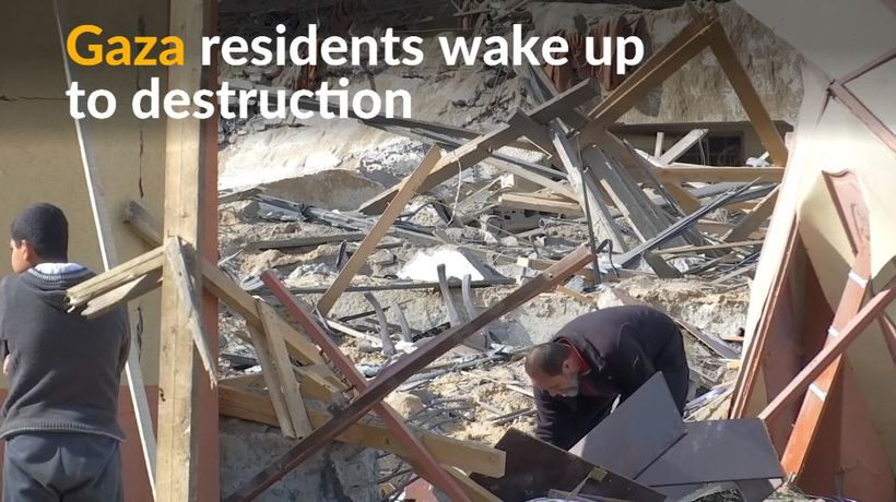 Sites of destruction in Gaza following overnight Israeli raids