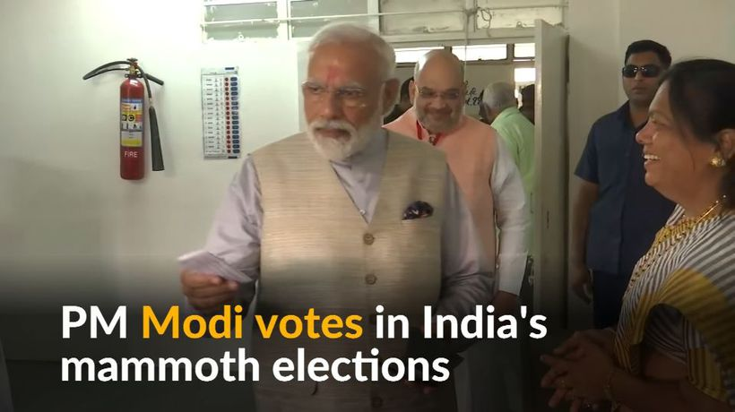 Modi casts vote in Indian elections