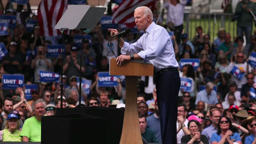 Biden calls for unity at kick-off rally