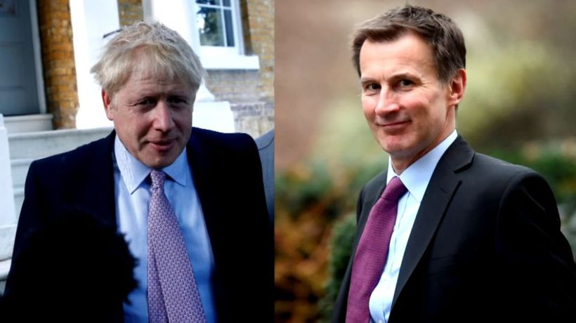 Johnson and Hunt in final showdown for UK PM job