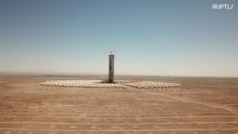 Chilean desert houses one of the world's largest solar plants