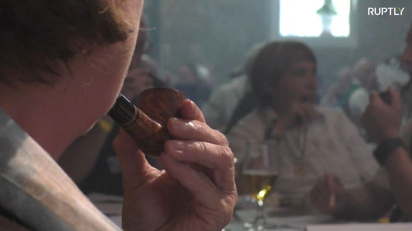 Take a look inside Germany's slow pipe smoking contest