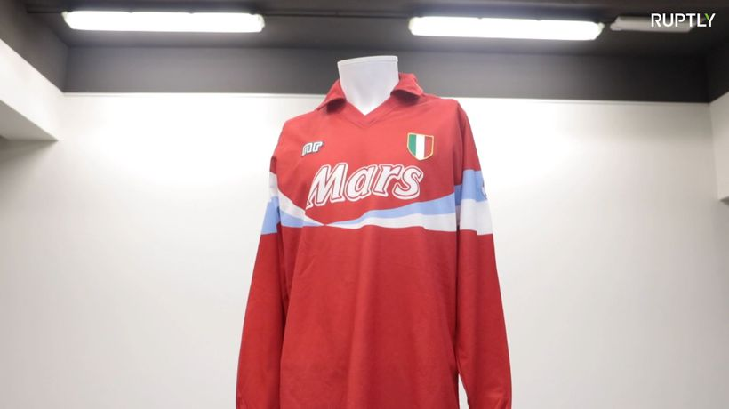 Unique Maradona shirts up for grabs at auction in Turin