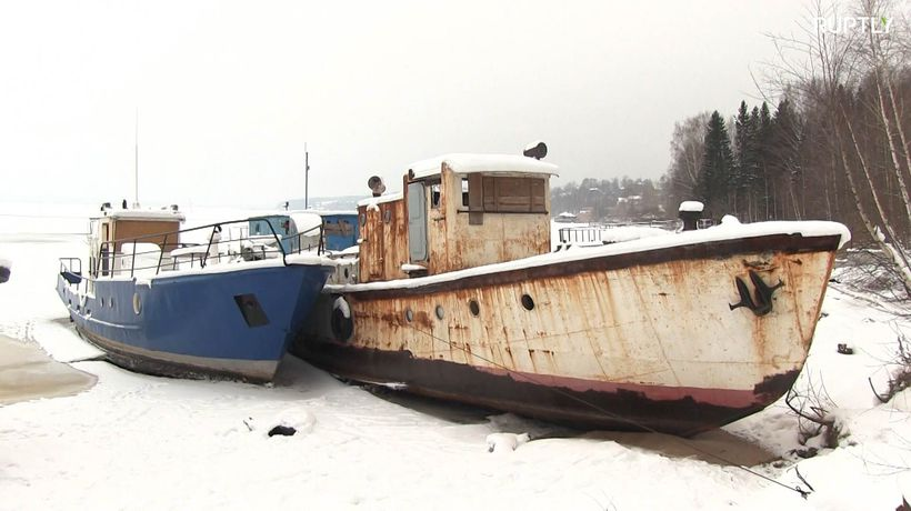 Soviet river boats left to rust at Perm's 'ship cemetery'