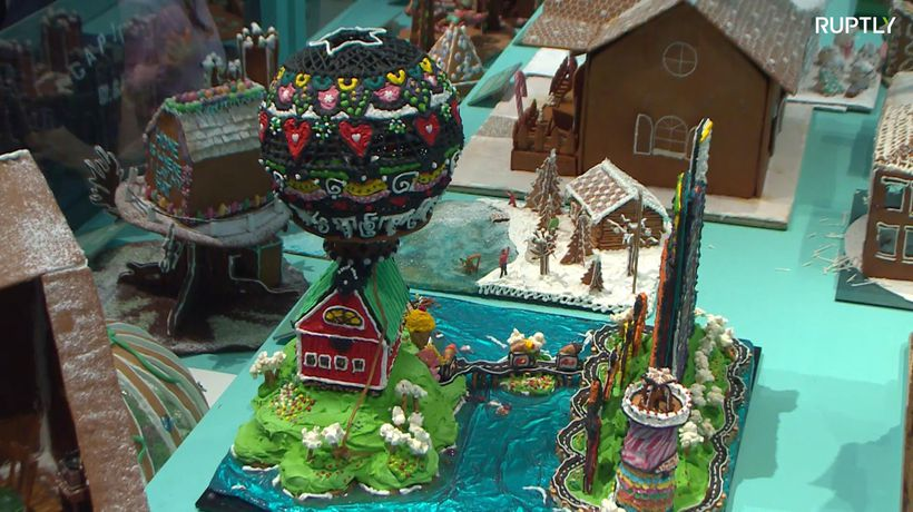 Gingerbread house contest a sweet success in Stockholm
