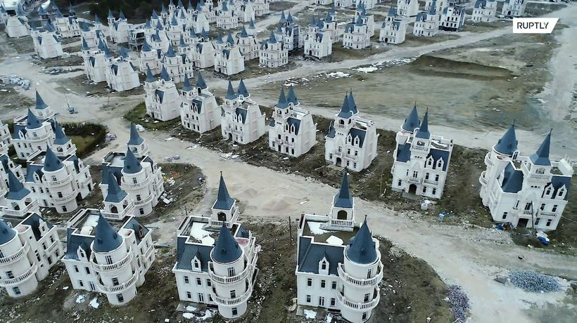 Take a tour of this ghost-town of abandoned Disney-like castles