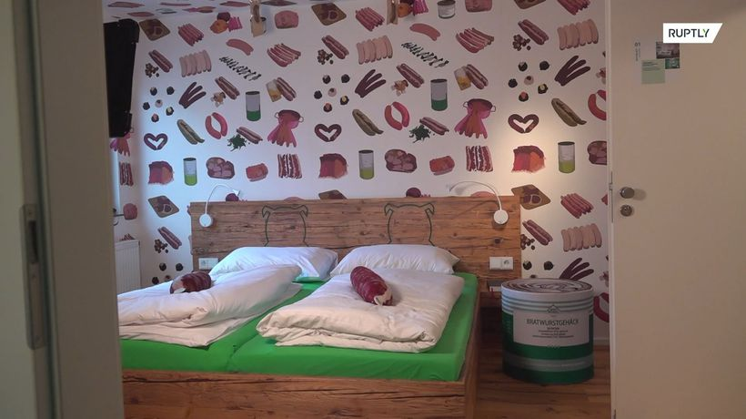 The WURST room ever! Sausage-themed hotel opens in Germany