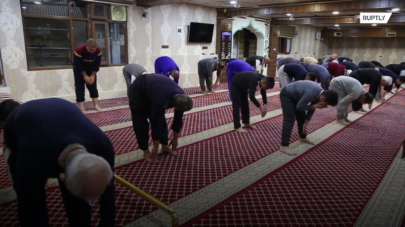 Worshippers at mosque get their blood pumping with post-prayer gym class