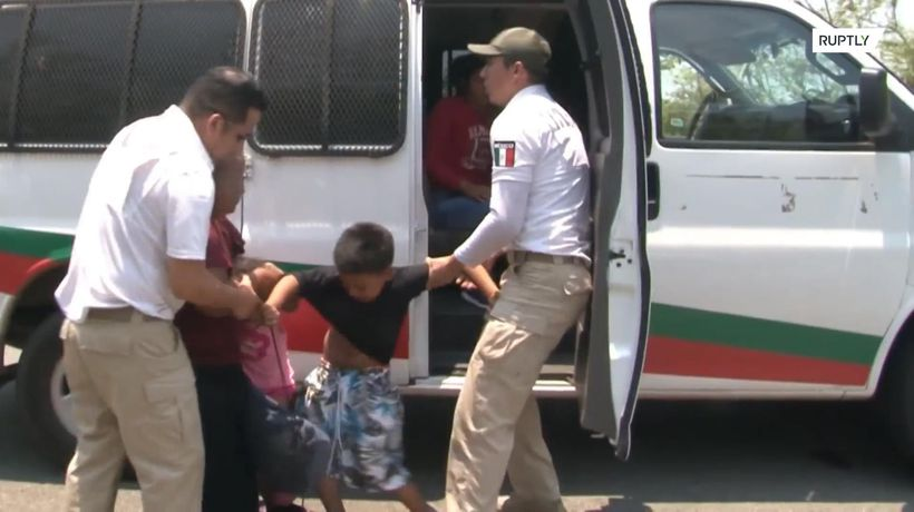 Hundreds of migrants detained in police raid in Mexico