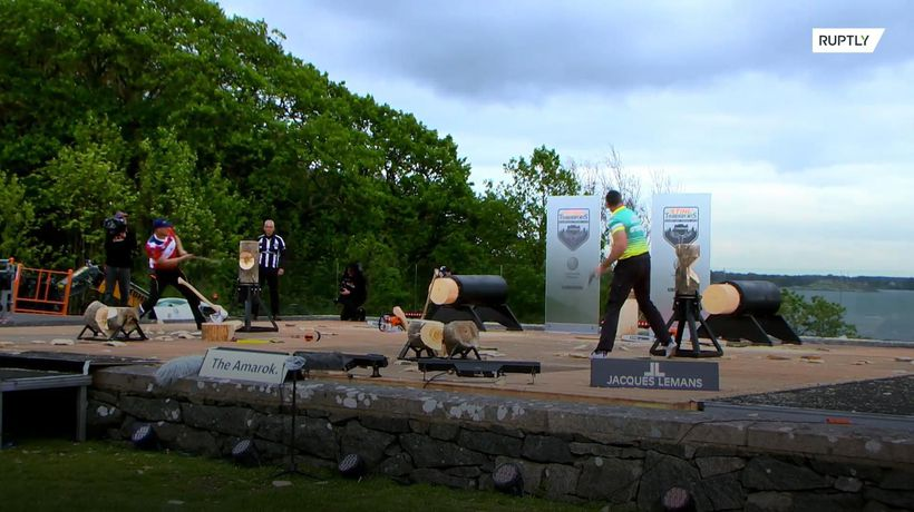 Lumberjacks go axe-to-axe at Timbersports Championships