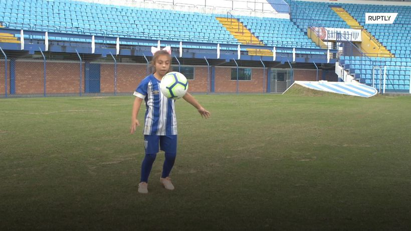 Meet the ten-year-old female footy player who's showing the boys how it's done