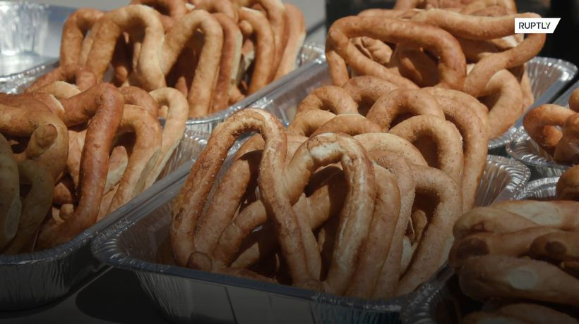 On your marks, get set, PRETZEL! Competitors scoff salty snacks at Rhode Island contest