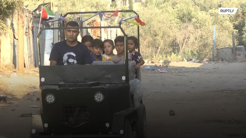 Man builds car from scratch after suffering injuries at Gaza border demos