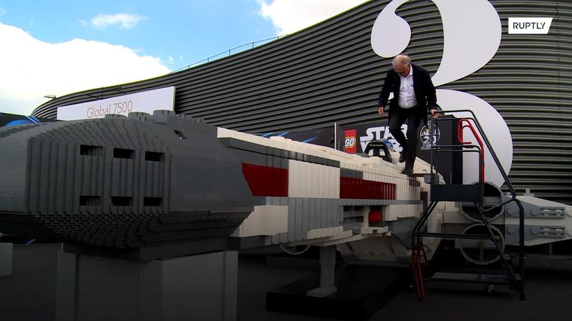 Massive Lego Star Wars X-Wing fighter showcased at Paris Air Show