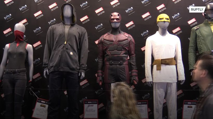 Marvel props and costumes on display at Comic-Con ahead of auction