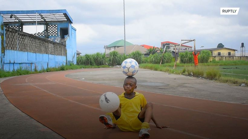 Meet Nigeria's mini Messi - Eche, the 11-year-old king of keepie-uppies