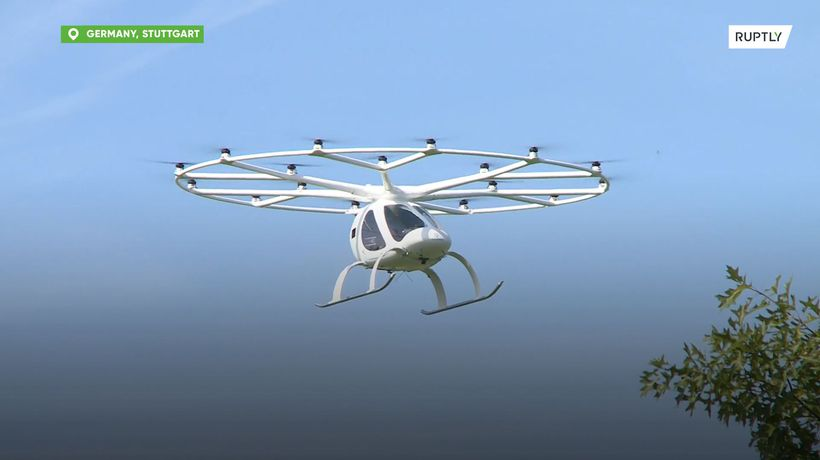 Volocopter showcases its 'flying taxi' in Germany's Stuttgart Copied from page