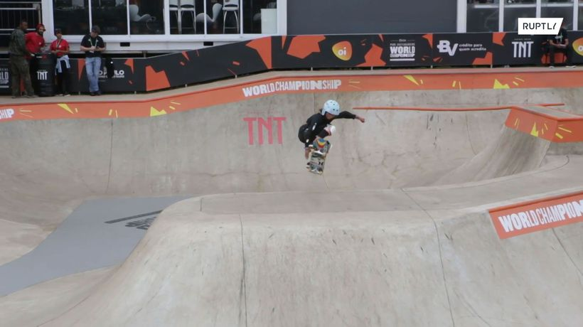 She's like the WIND! 11 y/o skateboarder fights for place in 2020 Olympics