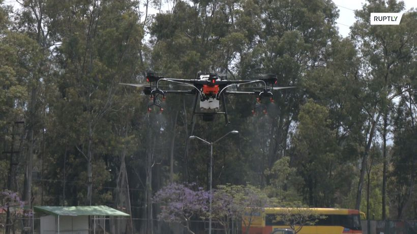 Drone project in Mexico seeks to combat coronavirus from the air