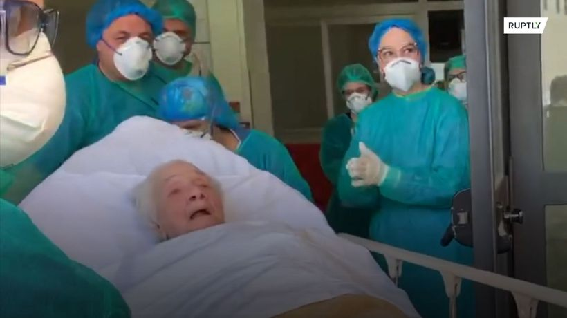 100-yr/old patient discharged from hospital after beating COVID-19