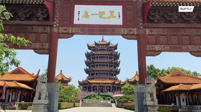 Wuhan's landmark Yellow Crane Tower reopens after nearly 100 days