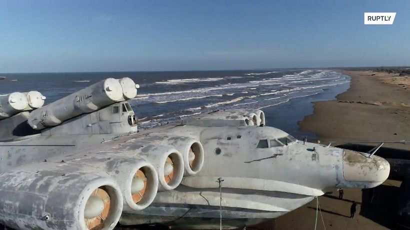 See Soviet-era MONSTER ship 'abandoned' on Caspian Sea shore
