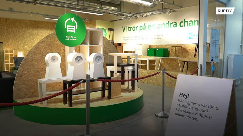 IKEA opens its first-ever second-hand store in sustainability push