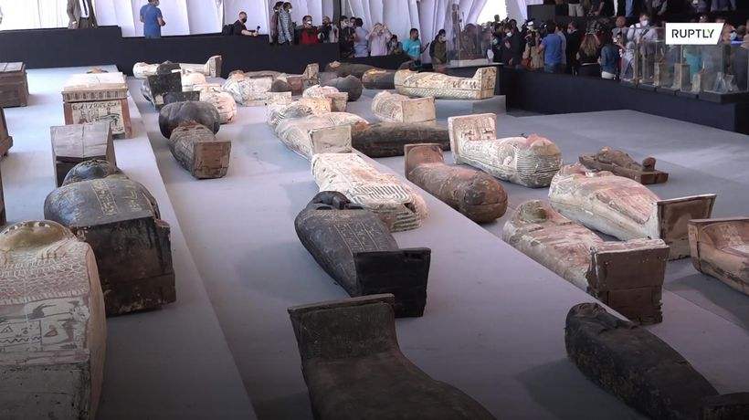 Sarcophagi and statues dating back 2,500 years unveiled in Egypt