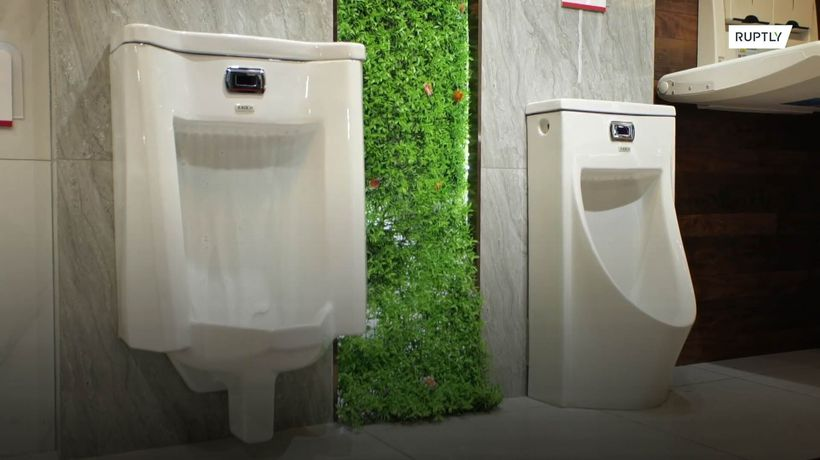 High-tech toilets to 'cut off the spread of coronavirus' go on display at Shanghai Expo