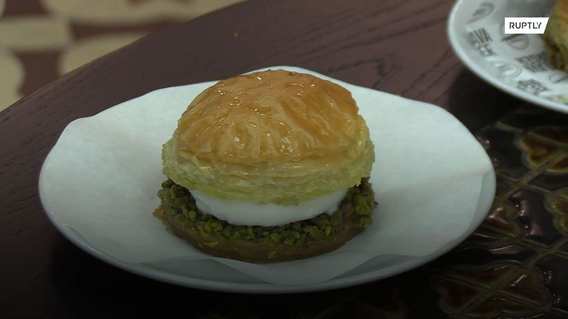 A Turkish restaurant is serving baklava burgers and they look divine