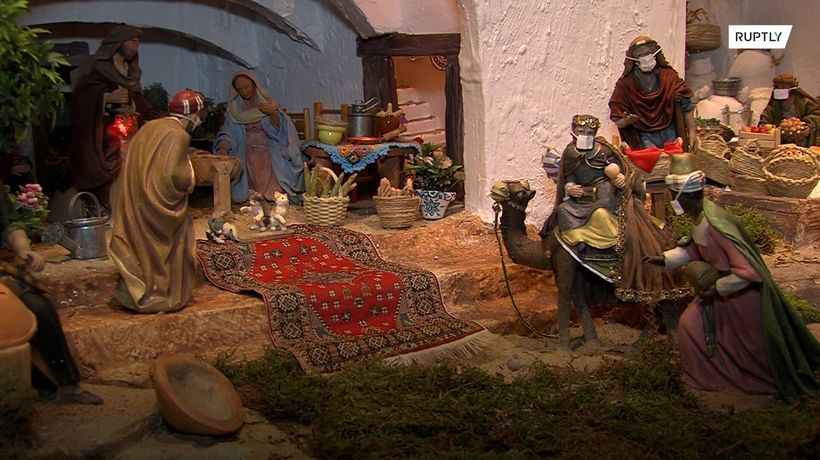Baby Jesus gets COVID vaccine as present in Spanish nativity scene