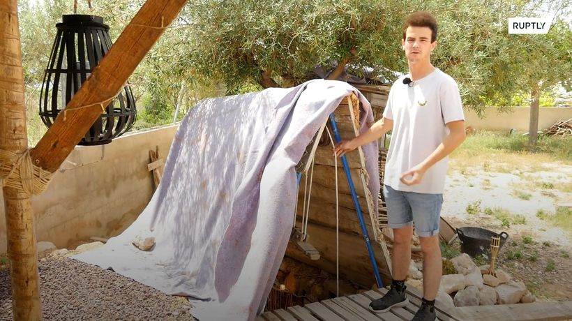 Youngster digs underground 'cave house' in backyard following argument with mother