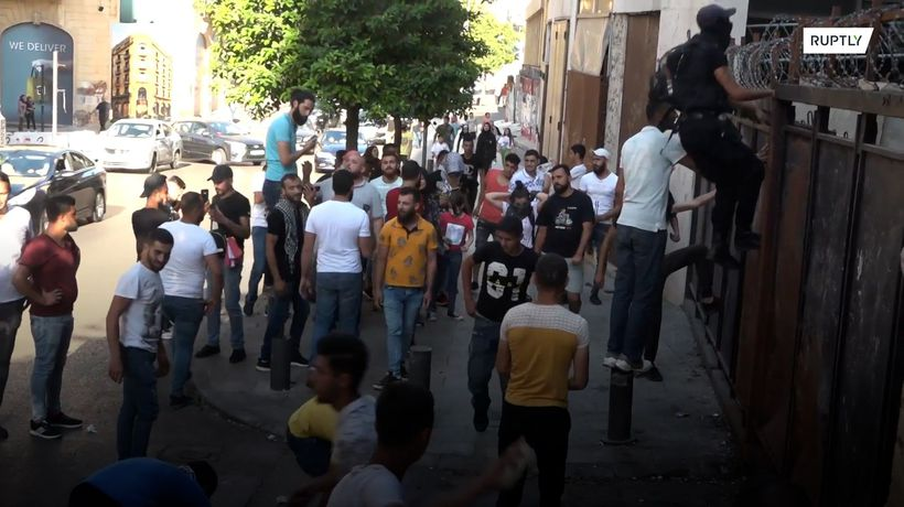 Protesters try to storm Lebanese Economy Ministry building