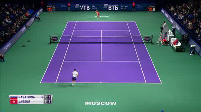 Kasatkina beats Jabeur in three sets to win Kremlin Cup in Moscow