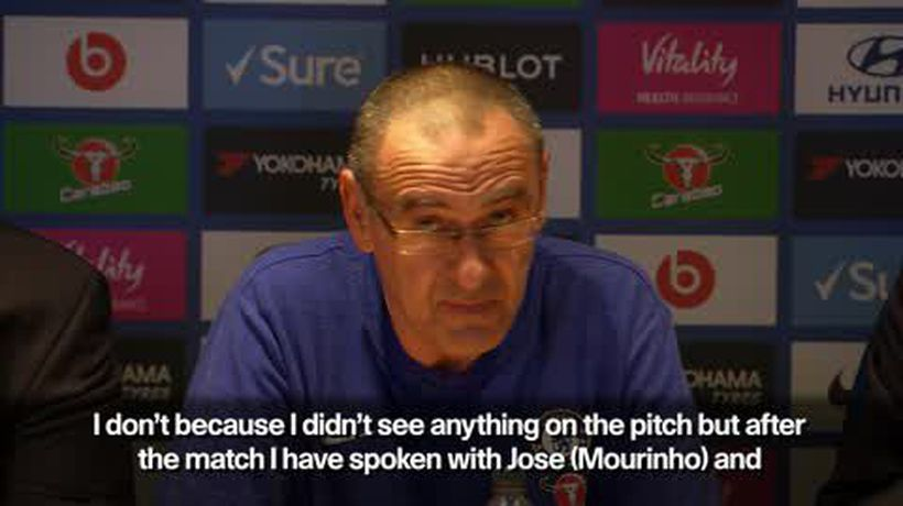 'I brought him to speak to Mourinho' says Sarri of staff member who offended Utd manager