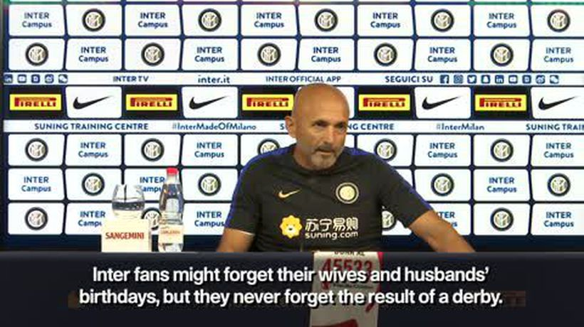 'They forget wives birthdays not AC Milan' Spalletti on Inter Milan fans