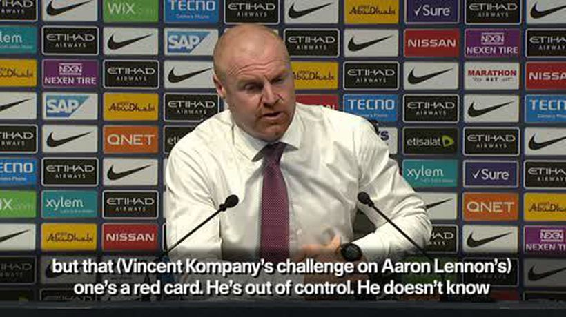 'Kompany deserved to see Red' - Dyche on incident with Lennon