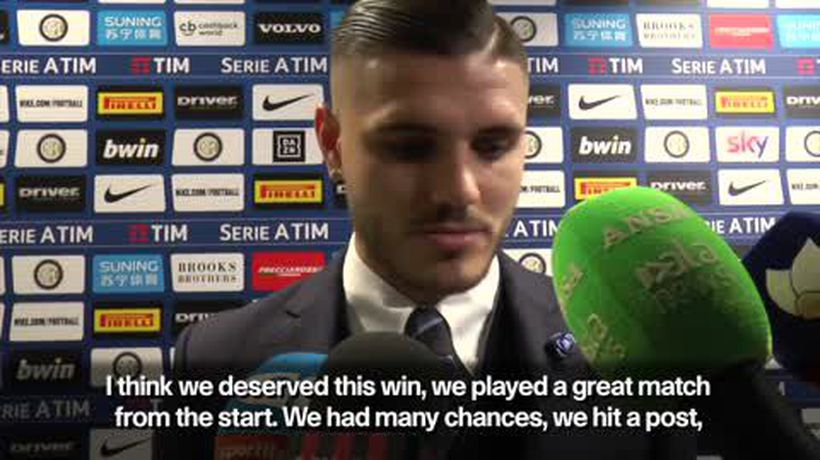 Mauro Icardi gives Inter Milan a 1-0 victory over AC Milan in the Italian Serie A