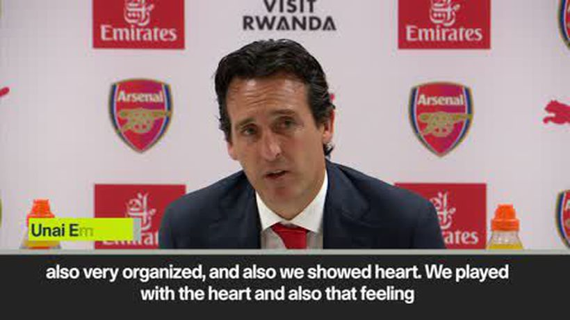 Arsenal showed 'heart' says Emery, and praise for Özil
