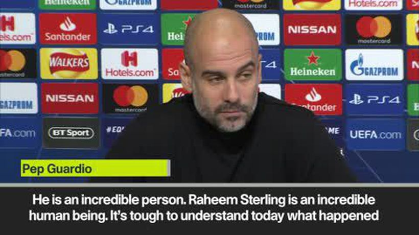Pep Guardiola and Leroy Sane support Raheem Sterling