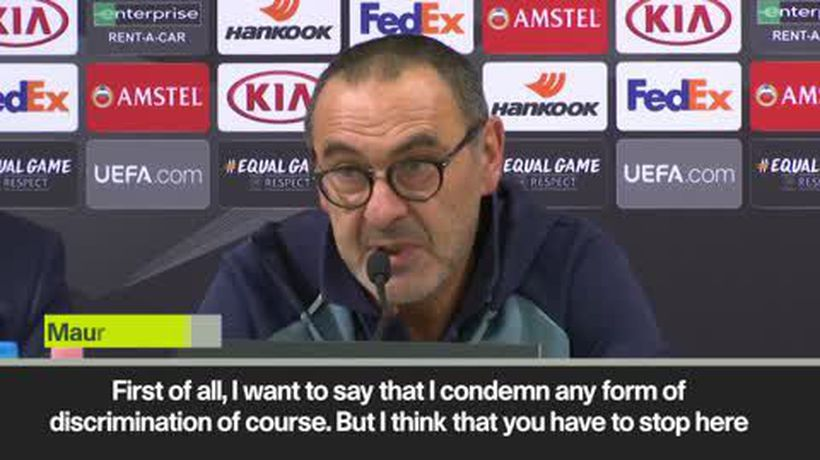 Sarri condemns verbal abuse over Sterling as 'disgusting' ahead Vidi match in UEL