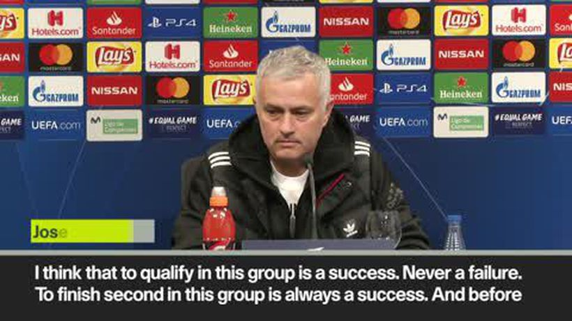 Mourinho considers being second in the group a 'success'