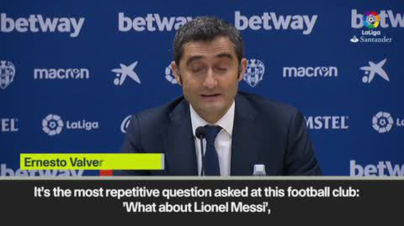'We just have to enjoy Messi while he's here' Valverde