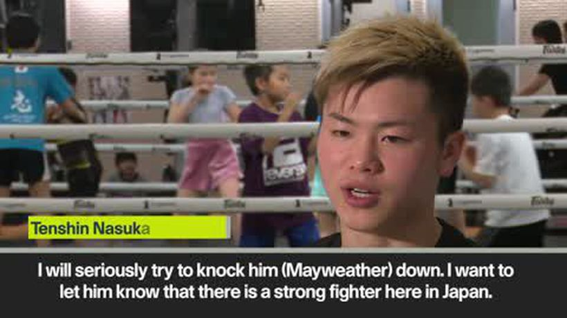 Japanese kickboxer Tenshin Nasukawa says he will 'knock down' Mayweather