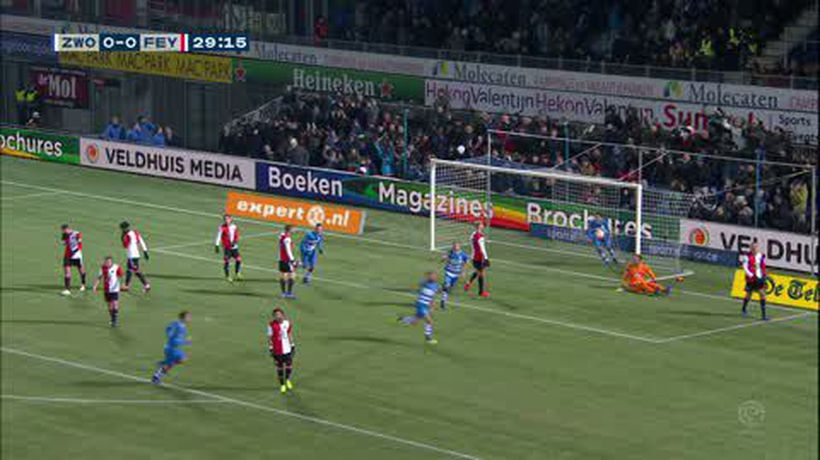 PEC Zwolle beat Feyenoord 3-1 in the Dutch Eredivisie
